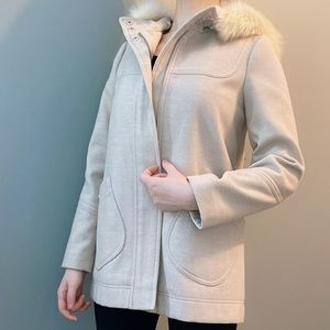 Topshop coat with hood size 4
